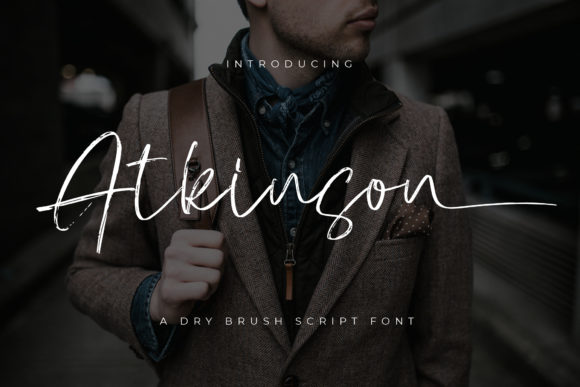 Print on Demand: Atkinson Script & Handwritten Font By Vz_Type