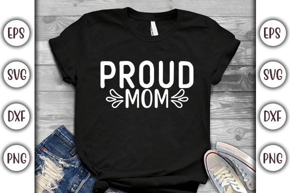 Download Free Baseball Design Proud Mom Graphic By Graphicsbooth Creative for Cricut Explore, Silhouette and other cutting machines.
