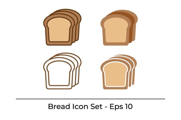 Download Free Bread Bakery Icon Set Vector Graphic By Hoeda80 Creative Fabrica for Cricut Explore, Silhouette and other cutting machines.