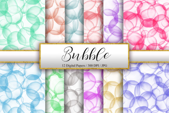 Bubble Watercolor Ink Background Graphic Backgrounds By PinkPearly