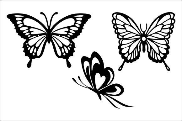 Download Free Butterflies Cut File Graphic By Bn3300877 Creative Fabrica for Cricut Explore, Silhouette and other cutting machines.