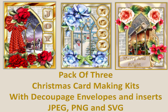 Christmas Cards Kit Svg Png Jpeg Graphic By The Paper Princess
