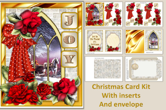 Download Free Christmas Cards Kit Svg Png Jpeg Graphic By The Paper Princess for Cricut Explore, Silhouette and other cutting machines.
