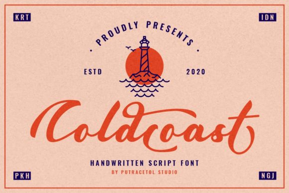 Print on Demand: Coldcoast Script & Handwritten Font By putracetol