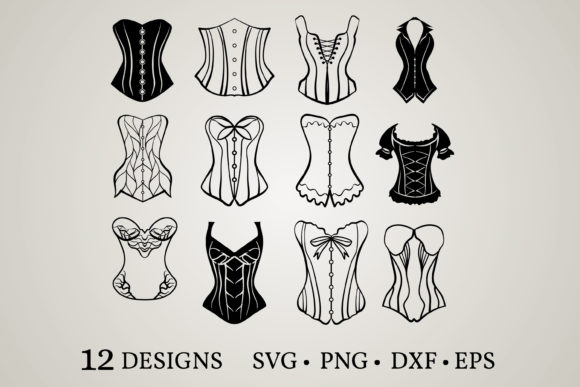 Download Free Corset Bundle Graphic By Euphoria Design Creative Fabrica for Cricut Explore, Silhouette and other cutting machines.