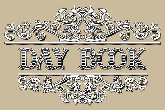 Download Free Day Book Vintage Ornamental Frame Graphic By Graphicsfarm for Cricut Explore, Silhouette and other cutting machines.