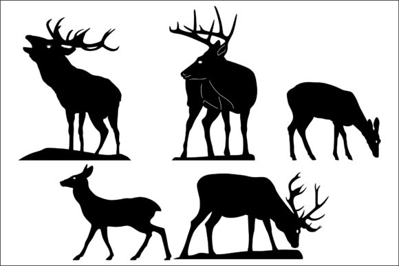 Download Free Deer Graphic By Bn3300877 Creative Fabrica for Cricut Explore, Silhouette and other cutting machines.