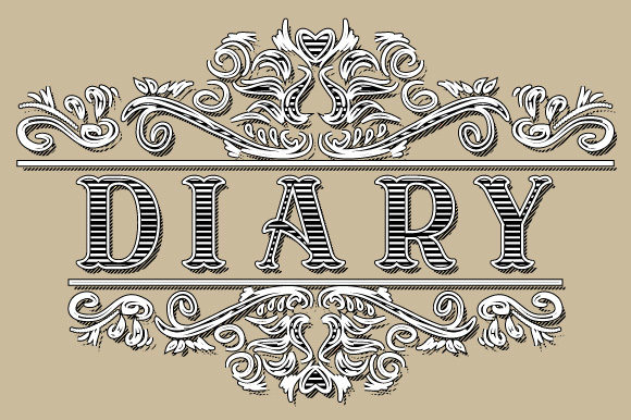 Download Free Diary Vintage Ornamental Frame Graphic By Graphicsfarm for Cricut Explore, Silhouette and other cutting machines.