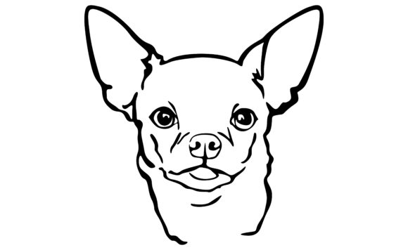 Print on Demand: Dog Line Art - Chihuahua Graphic Crafts By Arief Sapta Adjie