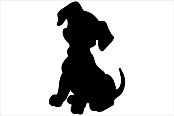 Download Free Dog Silhouette Graphic By Bn3300877 Creative Fabrica for Cricut Explore, Silhouette and other cutting machines.