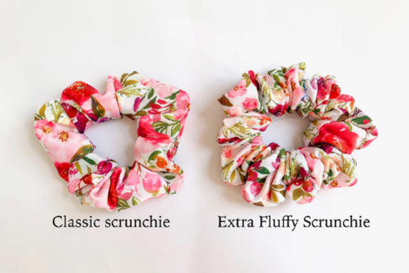 Download Free Easy Scrunchie Sewing Pattern Grafico Por Sweet Mama Makes for Cricut Explore, Silhouette and other cutting machines.