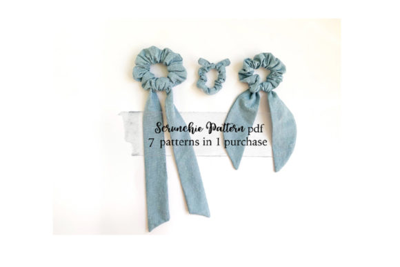 Easy Scrunchie Sewing Pattern Graphic Needle Arts By Sweet Mama Makes - Image 3