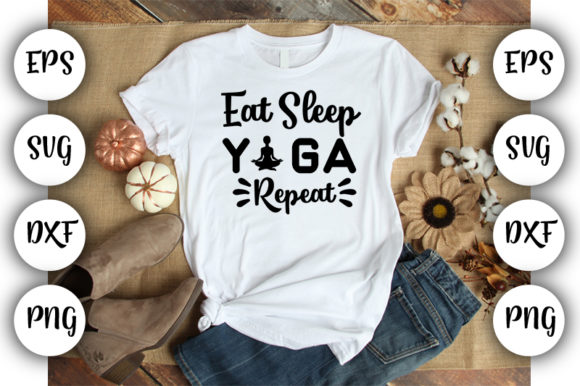 Download Free Eat Sleep Yoga Repeat Graphic By Design Store Creative Fabrica for Cricut Explore, Silhouette and other cutting machines.