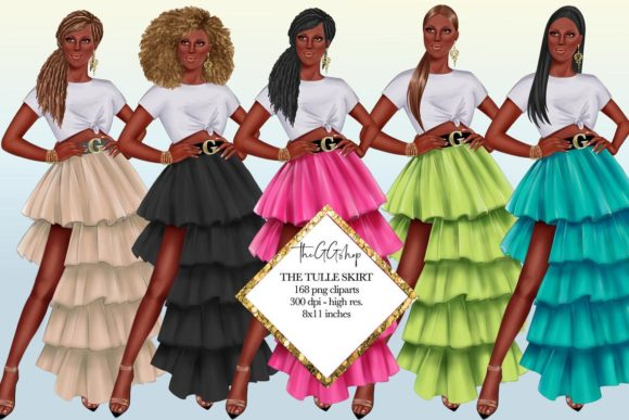 Print on Demand: Fashion Summer Girl Clipart Graphic Illustrations By TheGGShop