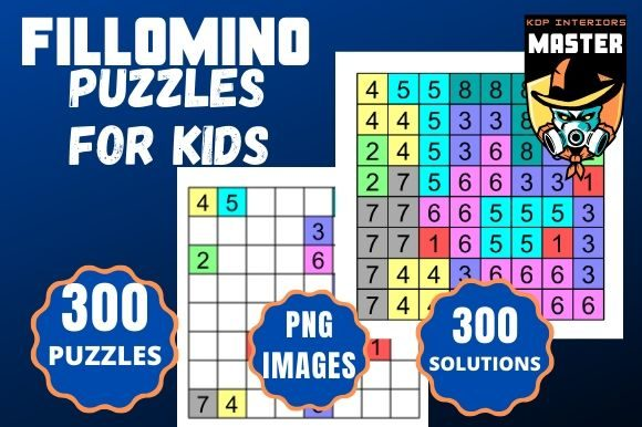 Download Free Fillomino Puzzles For Kids Graphic By Kdp Interiors Master for Cricut Explore, Silhouette and other cutting machines.