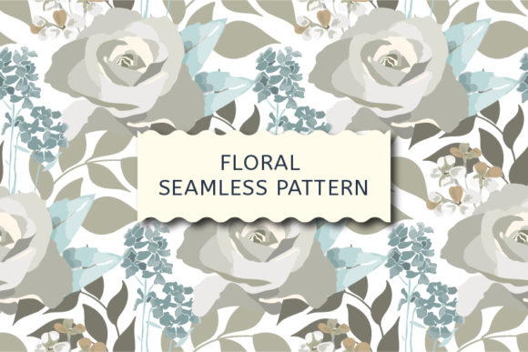 Download Free Floral Seamless Pattern With Roses Graphic By Kazakova O for Cricut Explore, Silhouette and other cutting machines.