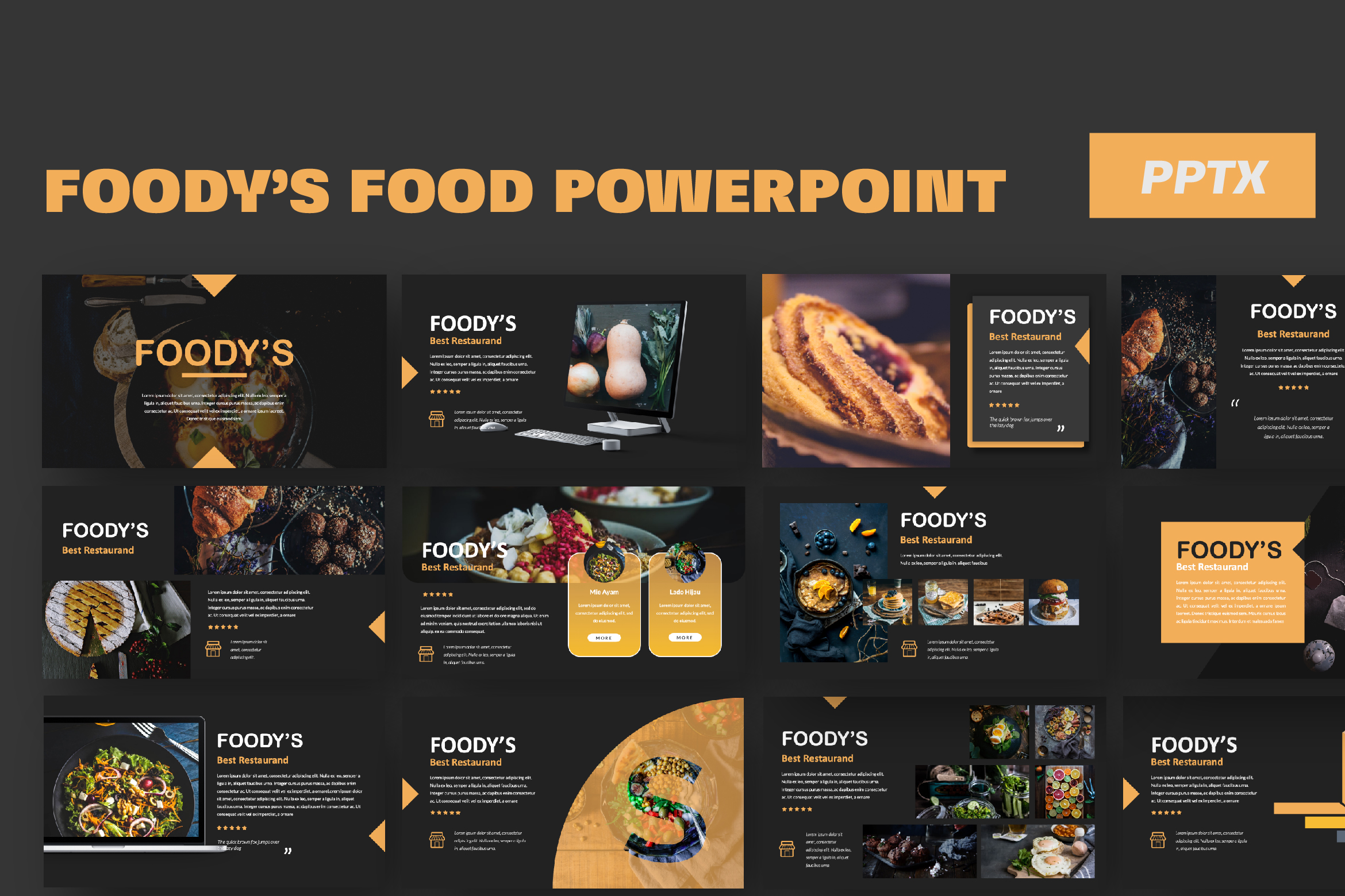 Download Free Foody Creative Powerpoint Grafico Por Temp Here Creative Fabrica for Cricut Explore, Silhouette and other cutting machines.