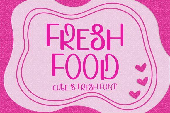 Print on Demand: Fresh Food Display Font By ONE DESIGN