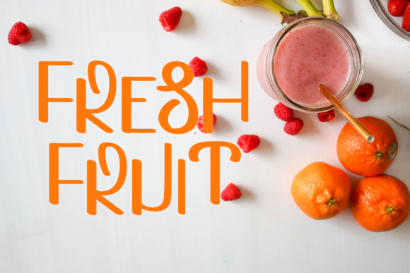 Download Free Fresh Food Font By One Design Creative Fabrica for Cricut Explore, Silhouette and other cutting machines.