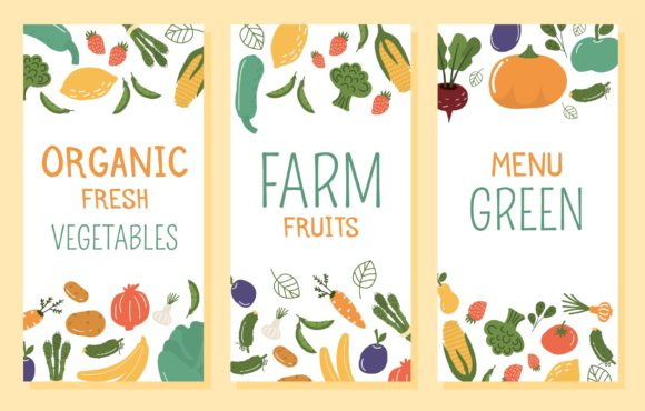 Download Free Fruits And Vegetables Banner Pattern Graphic By Danirablog for Cricut Explore, Silhouette and other cutting machines.