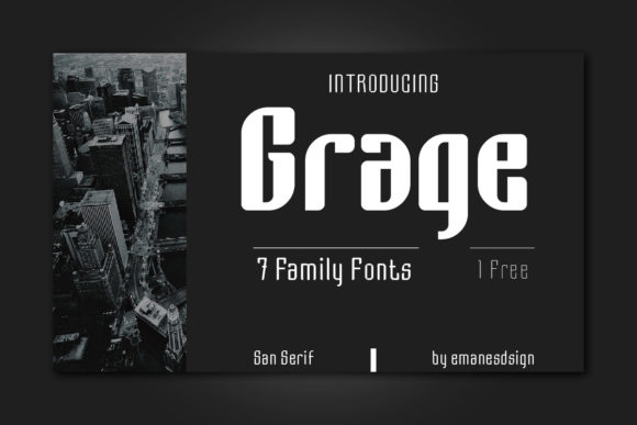 Print on Demand: Grage Sans Serif Font By emanesdsign