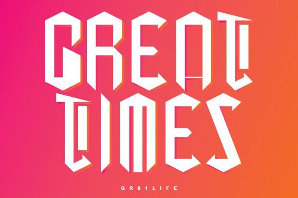 Print on Demand: Great Times Blackletter Font By great.vongfak