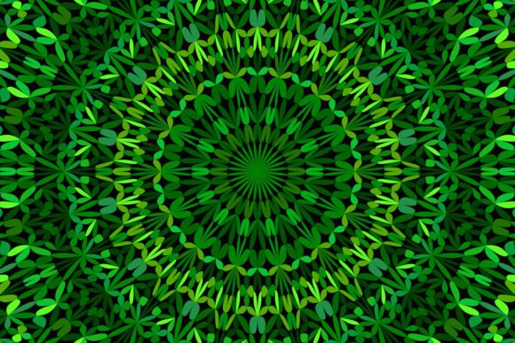 Green Floral Mandala Background Graphic Patterns By davidzydd
