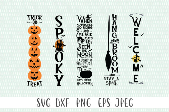 Print on Demand: Halloween Tall Sign Bundle (2020) Graphic Crafts By Simply Cut Co