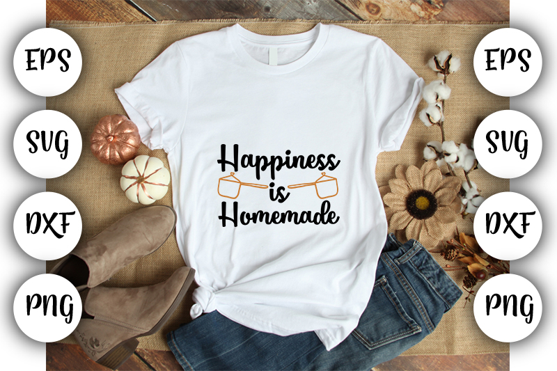 Download Free Happiness Is Homemade Graphic By Design Store Creative Fabrica for Cricut Explore, Silhouette and other cutting machines.