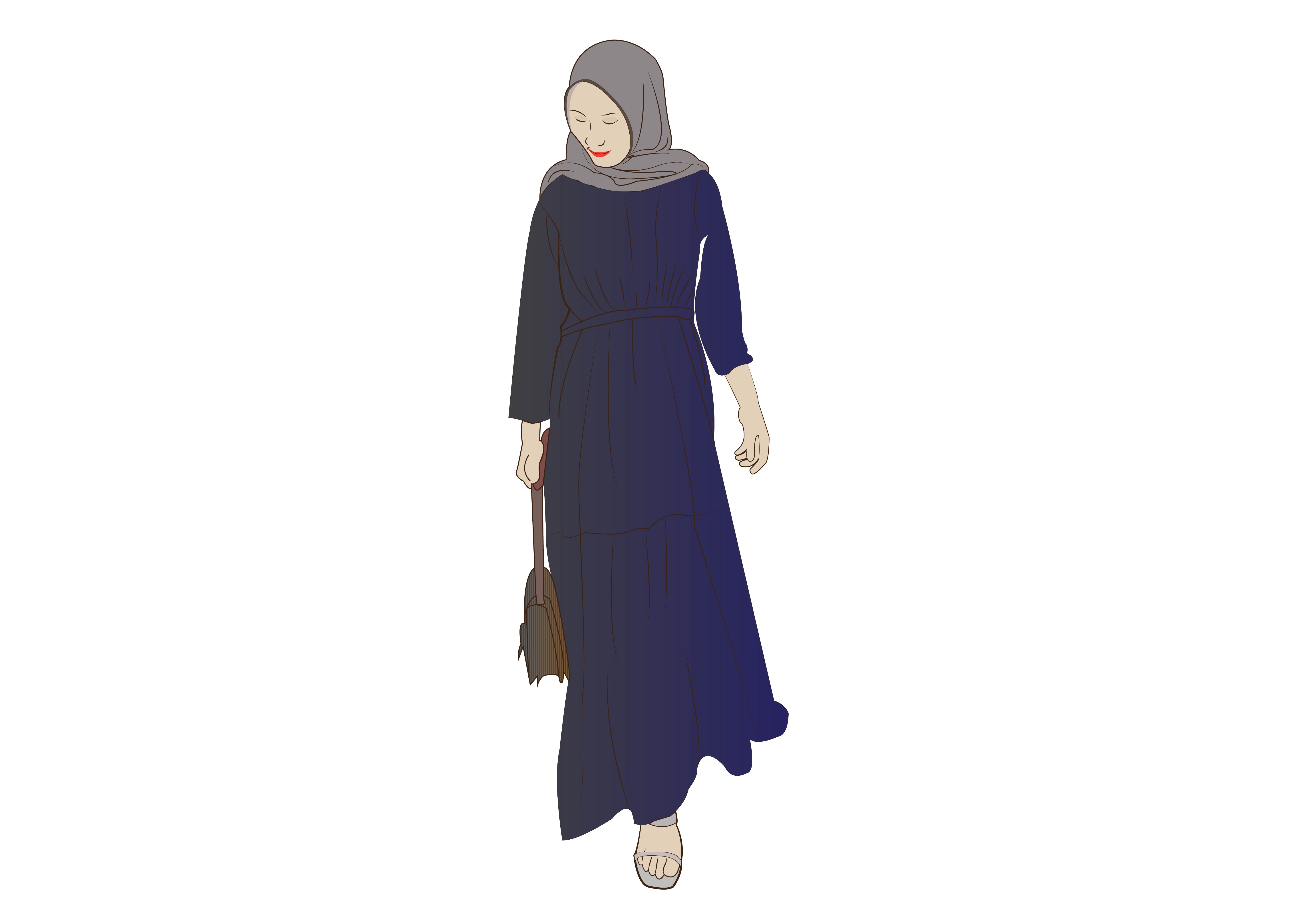 Download Free Hijab Girl 1 Graphic By Studioisamu Creative Fabrica for Cricut Explore, Silhouette and other cutting machines.