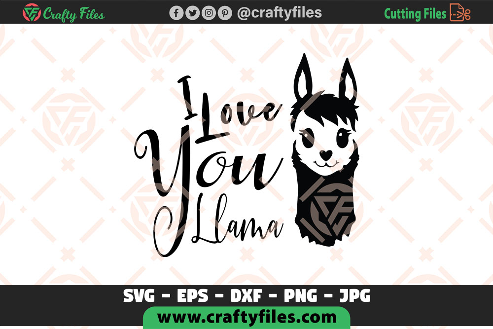 Download Free I Love You Llama Mama Llama Cur Fil Graphic By Crafty Files for Cricut Explore, Silhouette and other cutting machines.
