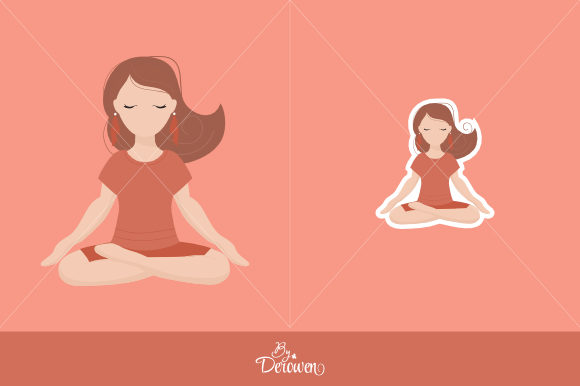 Download Free Illustrations Clipart Yoga Girl Orange Graphic By Byderowen for Cricut Explore, Silhouette and other cutting machines.