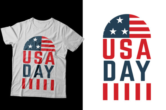 Independence Day 4th July T-Shirt Design Graphic Print Templates By Storm Brain