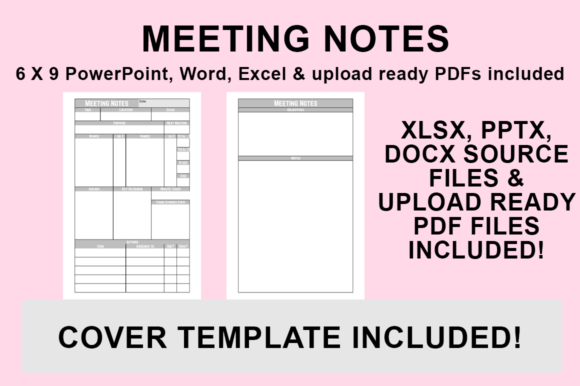 Download Free Kdp Interior Meeting Notes Graphic By Luke Bowes Creative for Cricut Explore, Silhouette and other cutting machines.