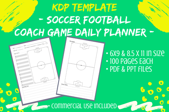 Download Free Kdp Soccer Coach Game Book 2 Sizes Graphic By Tomboy Designs for Cricut Explore, Silhouette and other cutting machines.