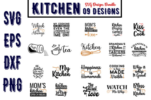 Download Free 98 Kitchen Svg Designs Graphics for Cricut Explore, Silhouette and other cutting machines.