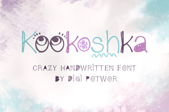 Print on Demand: Kookoshka Script & Handwritten Font By DIGI Potwor