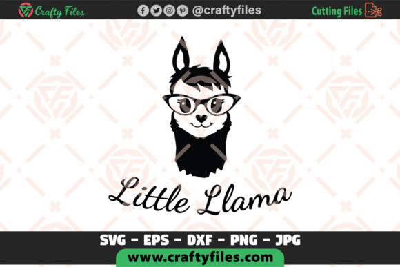 Download Free Little Llama Mama Llama For Cricut Graphic By Crafty Files SVG Cut Files