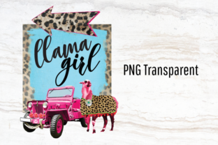 Print on Demand: Llama Logo, Leopard Print, Pink Jeep Graphic Logos By Blueberry Jam Design