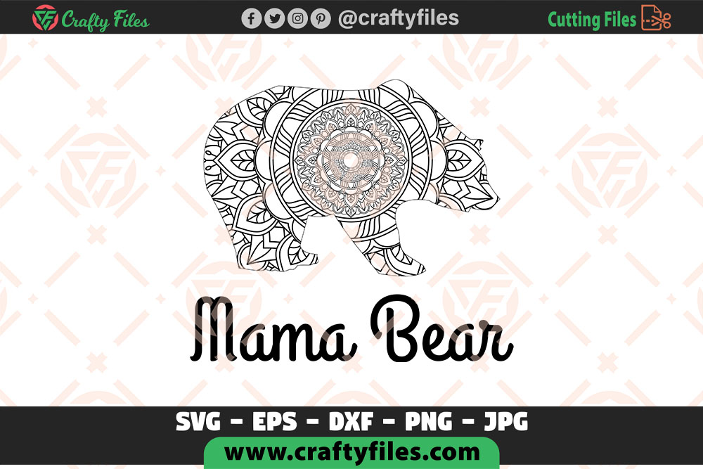 Download Free Mama Bear Decoration Mandla Graphic By Crafty Files Creative for Cricut Explore, Silhouette and other cutting machines.