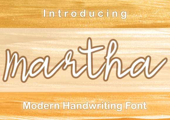 Print on Demand: Martha Script & Handwritten Font By Patrick Design