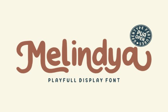 Print on Demand: Melindya Display Font By goodjavastudio