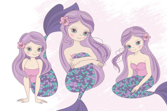 Print on Demand: Mermaid Party Creator Graphic Illustrations By FARAWAYKINGDOM - Image 13