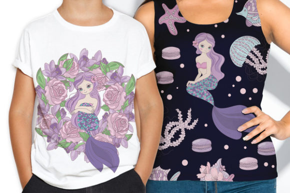 Print on Demand: Mermaid Party Creator Graphic Illustrations By FARAWAYKINGDOM - Image 17