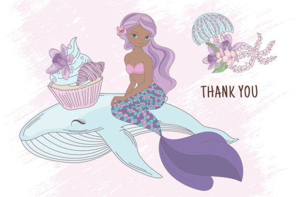 Print on Demand: Mermaid Party Creator Graphic Illustrations By FARAWAYKINGDOM - Image 20