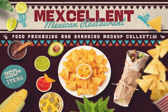 Mexican Food Scene & Mock-up Creator Graphic Scene Generators By Relineo