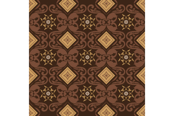 Download Free Modern Flower Motifs On Javanese Batik Graphic By Cityvector91 for Cricut Explore, Silhouette and other cutting machines.