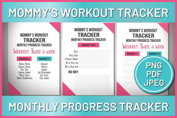 Download Free Mommy S Workout Tracker Monthly Progress Graphic By Ascendprints for Cricut Explore, Silhouette and other cutting machines.