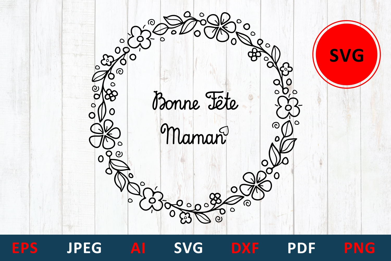 Download Free Mother S Day Greeting Card In France Graphic By Millerzoa for Cricut Explore, Silhouette and other cutting machines.