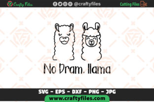 Download Free No Dram Llama Cute Couple Of Llama Graphic By Crafty Files for Cricut Explore, Silhouette and other cutting machines.
